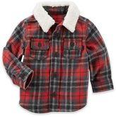 OshKosh Baby B'gosh® Jersey Lined Plaid Shirt in Red/Grey