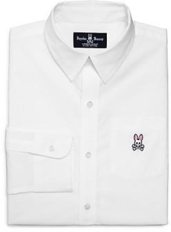 Psycho Bunny Boys' Solid Dress Shirt - Little Kid, Big Kid
