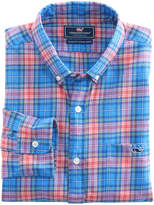 Vineyard Vines Kingsley Park Plaid Performance Flannel Slim Tucker Shirt