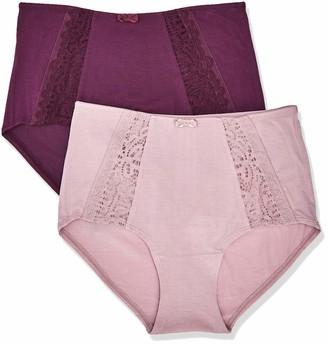 Iris & Lilly Amazon Brand Women's Modal High Waisted Knicker Pack of 2
