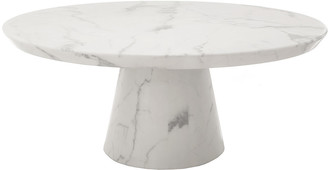 Pols Potten Disc Marble Look Coffee Table - White