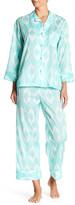 Natori Batik Shirt & Pant Pajama Set