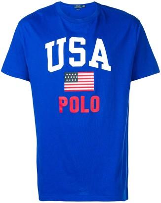 Polo Ralph Lauren USA logo print T-shirt