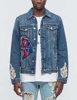 MSGM Vintage Washed Denim Jacket