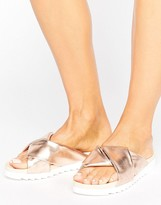 Blink Summer Fold Over Soft Flat Sandal
