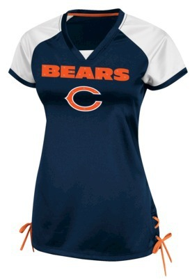LDS NFL Chicago Bears Raglan V-Neck Shirt