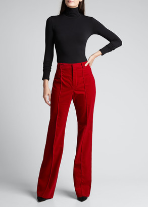 Saint Laurent Corduroy Flare-Leg Pants