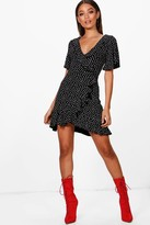 boohoo Ditsy Heart Tea Dress