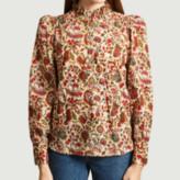 Jolie Jolie - Khaki Cotton Cordelia Blouse - cotton | small | khaki - Khaki