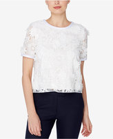 Catherine Malandrino Cassidy Floral-Lace Boxy Top