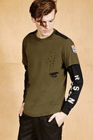21men 21 MEN Reason Distressed Layered Tee