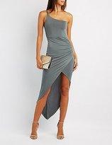 Charlotte Russe One-Shoulder Asymmetrical Bodycon Dress