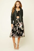 Forever 21 FOREVER 21+ Floral Print Pleated Skirt