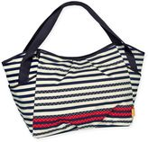 Lassig Casual Twin Diaper Bag Zigzag Striped in Navy/White/Red