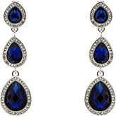 Monet 3 Crystal Clip-On Drop Earrings