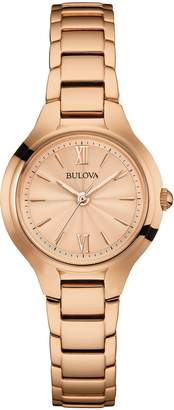 Bulova Women's Rosetone Stainless Steel Bracelet Watch