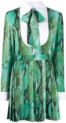 MSGM Snakeskin-Print Mini Dress