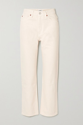 RE/DONE 70s Crop Boot High-rise Straight-leg Jeans - White