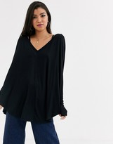 Free People Moonshine oversized jersey top