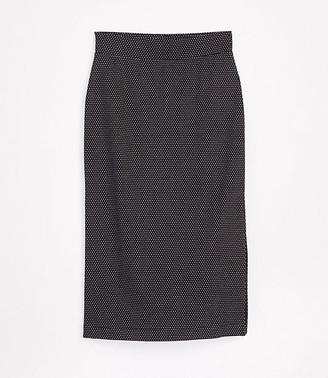 LOFT Lou & Grey Pindot Midi Skirt