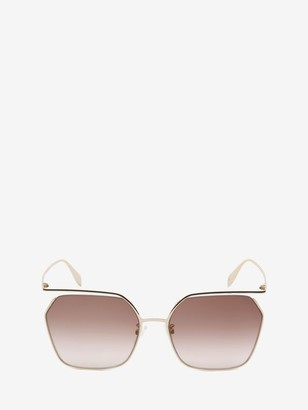Alexander McQueen The Cut Square Sunglasses