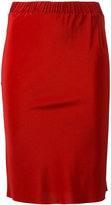 A.F.Vandevorst stretch waist pencil skirt - women - Silk/Lyocell - 34