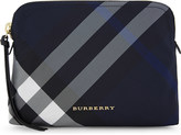 Burberry Checked large nylon pouch