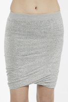 T by Alexander Wang Marled Skirt Heather Grey
