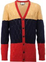 Gucci openwork lace stitch cardigan - men - Wool - XS