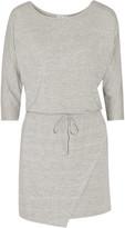 Splendid Wrap-effect stretch-modal jersey mini dress