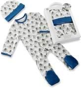 Baby Aspen Baby Boy Little Peanut Elephant Pajama & Hat Gift Set