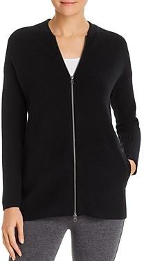 Eileen Fisher Merino Wool Zip-Front Cardigan