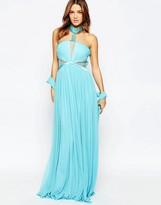 Forever Unique Aliyah Halterneck Maxi Dress