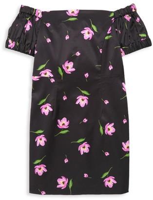 Milly Girl's Floral Off-The-Shoulder Dress