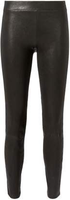 L'Agence Leather Pull-On Pants