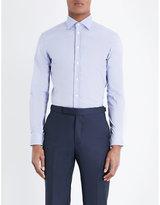 Armani Collezioni Slim-fit Stretch-cotton Shirt