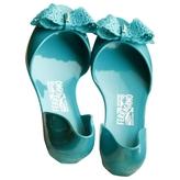 Salvatore Ferragamo Green Rubber Sandals