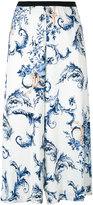 Antonio Marras floral print cropped trousers - women - Polyester/Spandex/Elastane/Viscose - 44