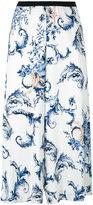 Antonio Marras floral print cropped trousers - women - Viscose/Spandex/Elastane/Polyester - 44