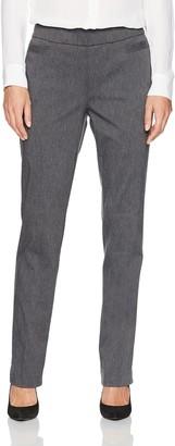 Briggs New York Women's Super Stretch Millennium Welt Pocket Pull On Career Pant Pants