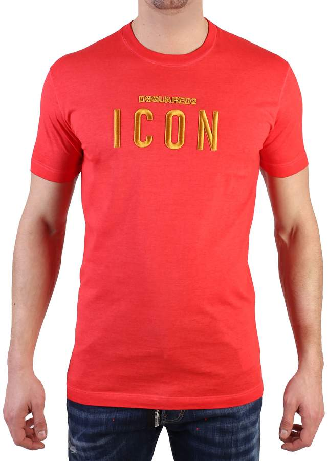 DSQUARED2 Embroidered Cotton T-shirt