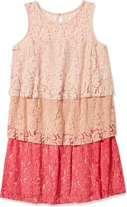 Taylor Dresses Women's Plus Size Triple Tier lace Dress