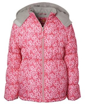 Pink Platinum Toddler Girl Floral Winter Jacket Coat