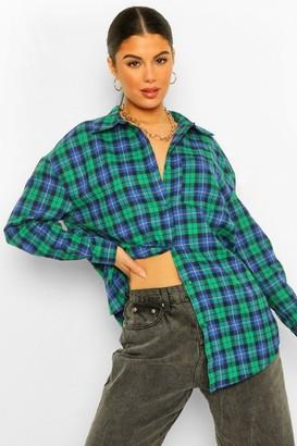 boohoo Oversized Flannel Shirt