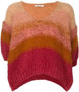 Mes Demoiselles knit panelled top