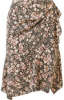 Isabel Marant Becka Floral-print Silk-blend Mini Skirt - Beige