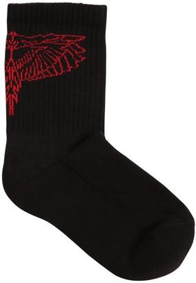 Marcelo Burlon County of Milan Wings Rib Knit Socks