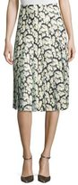 ADAM by Adam Lippes High-Waist Floral-Print Combo Skirt, Mini Dahlia