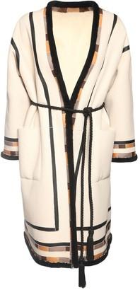 Blancha Intarsia Wool Shearling Coat