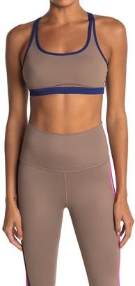 Wear It To Heart Contrast Trim Strappy Sports Bra